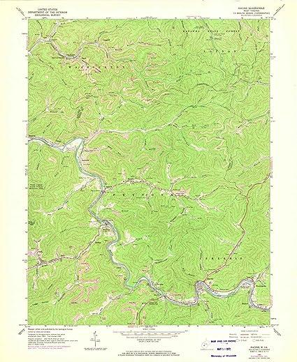 Amazon com: West Virginia Maps | 1965 Racine, WV USGS