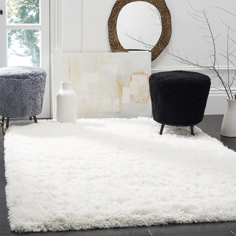 Amazon Com Safavieh Polar Shag Collection Psg800b White Area Rug 8