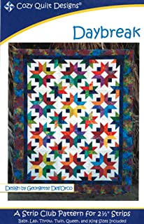 "5 sizes Cozy Quilts pieced quilt PATTERN for 2.5/"" strips Stardust"