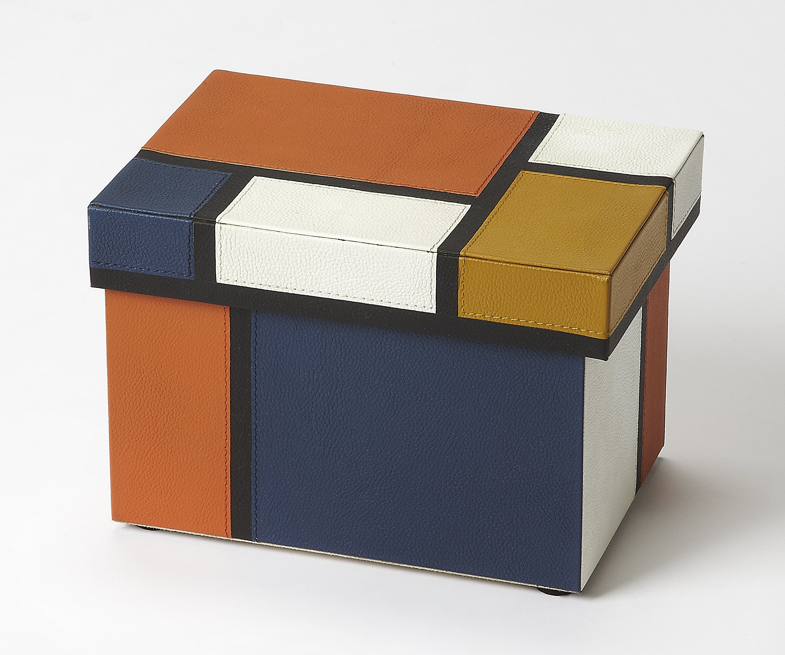 Butler specality company BUTLER 3902016 MOSAIC LEATHER STORAGE BOX