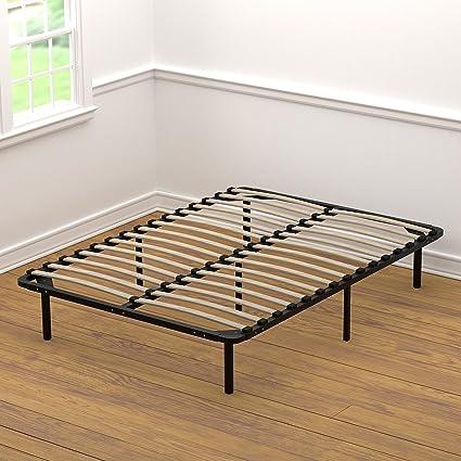Amazoncom Handy Living Platform Bed Frame Wooden Slat Mattress