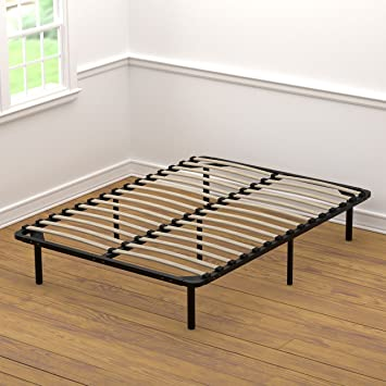 handy living wood slat bed frame full - Full Bed Frame Wood