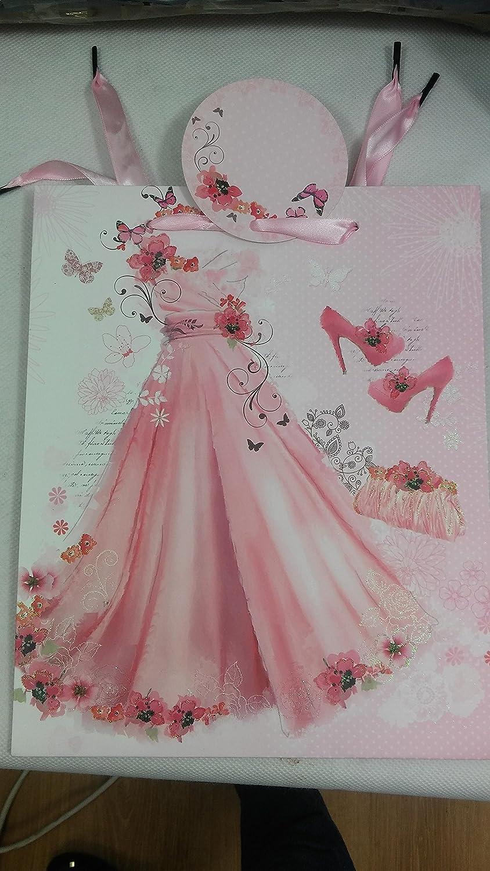 Bolsa de regalo para mujer, tamaño mediano, diseño de balón rosa ...