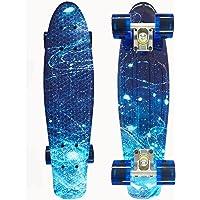 SKILEC Skate Completo Monopatín Principiantes Estrellado Ruedas PU - Skateboard Niño 22 Pulgadas, 57 cm Monopatín Niños…