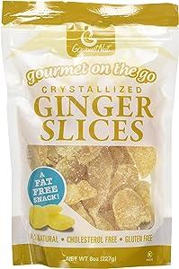 GourmetNut Gourmet on the Go Crystallized Ginger Slices (2 Pack)