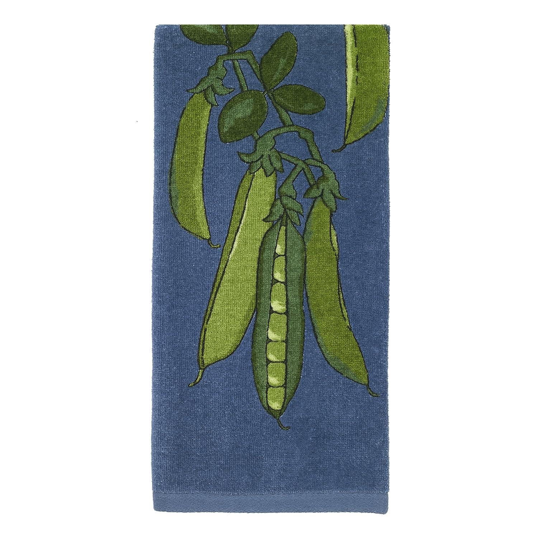 All-Clad Textiles 100-percent Cotton Fiber Reactive Peas Print Kitchen Towel, 17-inch x 30-inch, Cornflower Blue