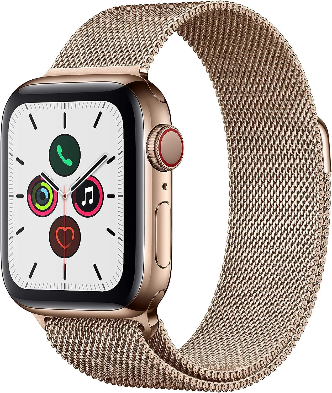 Apple Watch Series5/40mmゴールドステンレススチールケース/ゴールドミラネーゼループ
