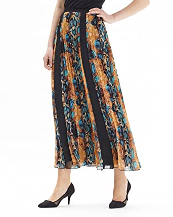 f7a2b93bb0 JD Williams Womens Joanna Hope Print Pleated Maxi Skirt Print