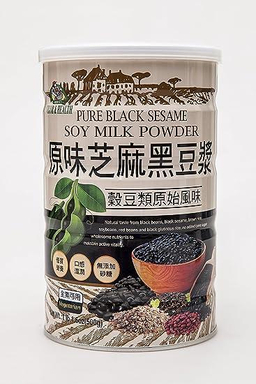 Pólvora de leche de soja pura de color negro Sesame.: Amazon ...