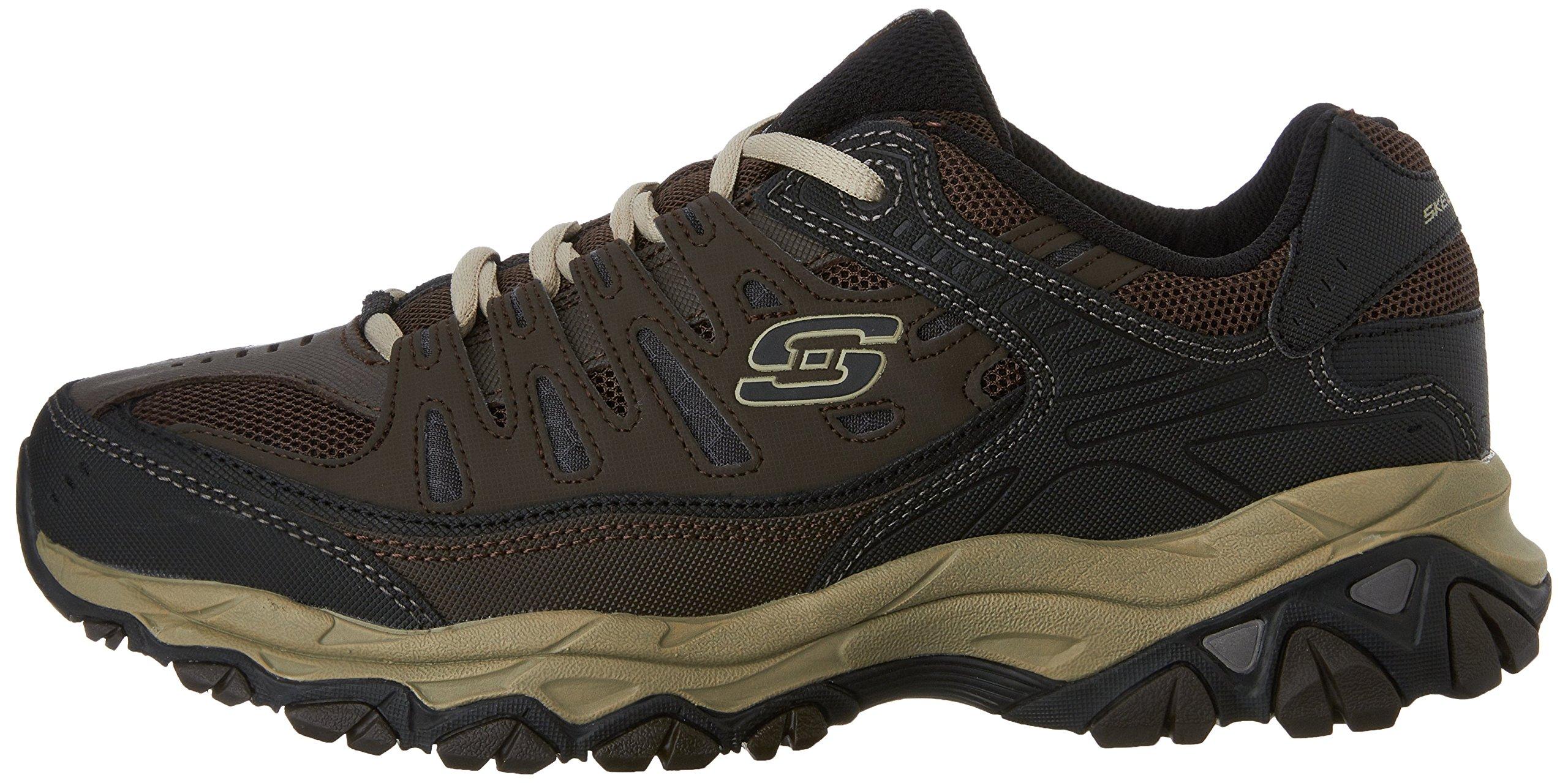 Skechers Men's AFTERBURNM.FIT Memory Foam Lace-Up Sneaker, Brown/Taupe, 7.5 M US by Skechers (Image #5)