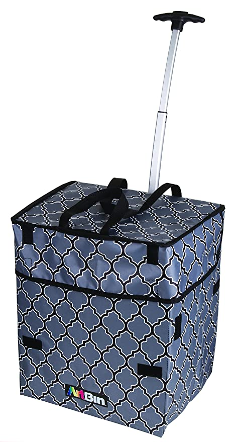 f27806af3a56 Amazon.com  ArtBin 6822AG Rolling Collapsible Wheeled Bag Tote ...