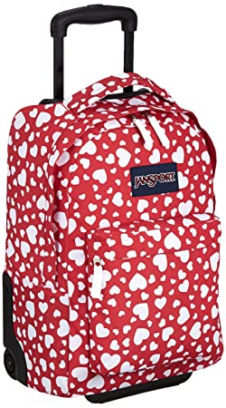 JanSport Digital SuperBreak Sleeve Backpack HIGH RISK RED HEART TO RESIST
