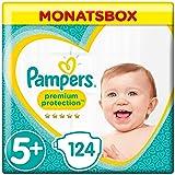Pampers Premium Protection Windeln, Gr. 5+ Junior Plus (12-17 kg), Monatsbox, 1er Pack (1 x 124 Stück)