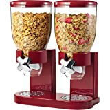 Zevro GAT203 Indispensable Dual-Canister Dry-Food Dispenser, Red