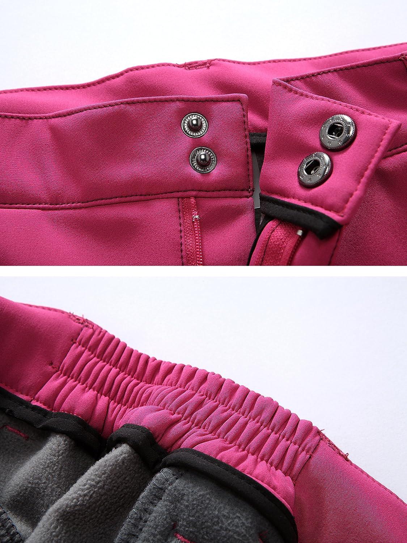 HAINES Pantalon Softshell Femme Imperm/éable Respirant Doubl/é Polaire Randonn/ée Hiver Outdoor Sport Camping Trekking Pantalons