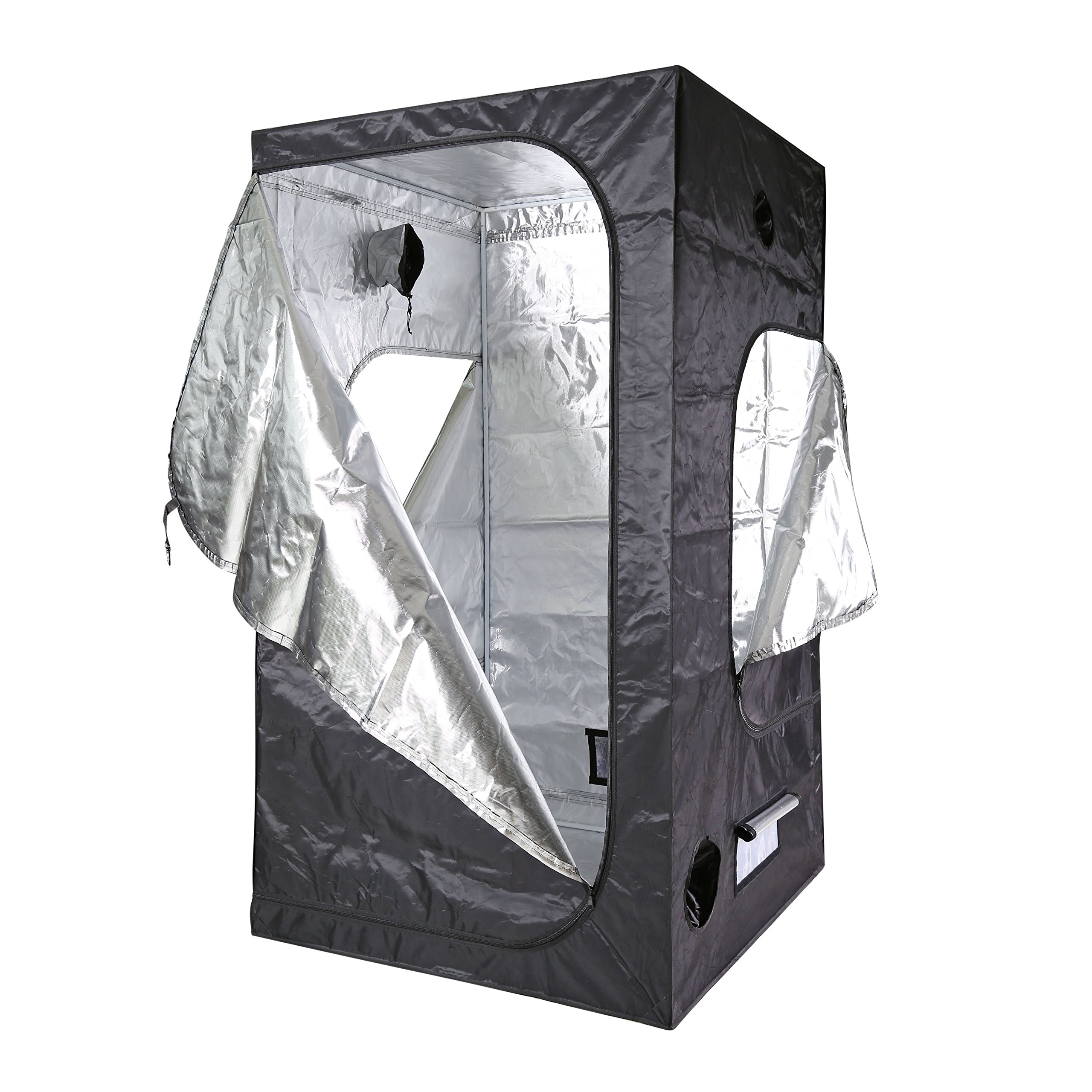 100% Mylar 600D reflective Non Toxic Grow Tent With 3 doors For Indoor (48''X48''X84'')