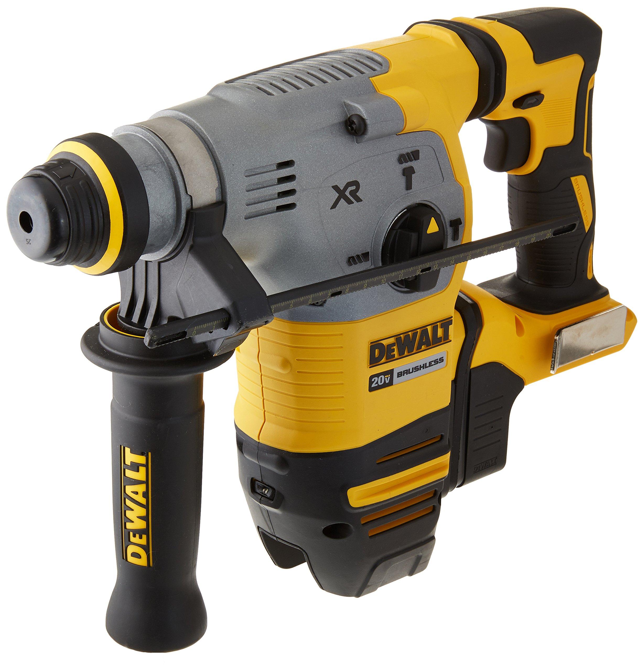 "DEWALT DCH293B 20V Max XR Brushless 1-1/8"" L-Shape SDS Plus Rotary Hammer Drill"