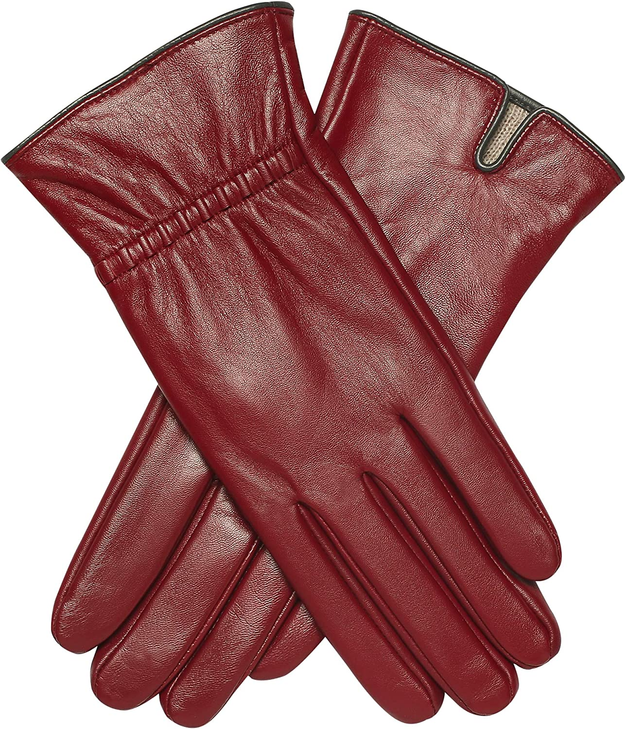 Genuine Leather Gloves -...