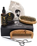 Amazon Price History for:Beard Grooming & Trimming Kit for Men Care - Beard Brush, Beard Comb, Unscented Beard Oil Leave-in Conditioner, Mustache & Beard Balm Butter Wax, Barber Scissors for Styling, Shaping & Growth Gift set