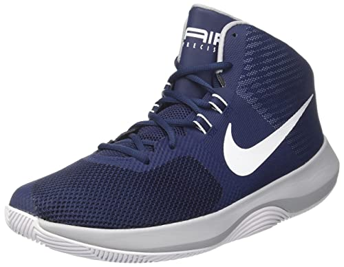online retailer 79469 5394c Nike Men s AIR Precision Midnight Navy Wht-Wolf Gry Basketball Shoes-11 UK