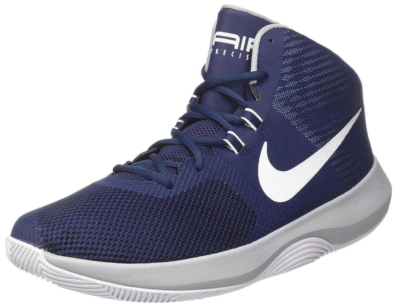 NIKE Air Precision, Chaussures EU|Bleu de Basketball Homme 42.5 EU|Bleu Chaussures (Midnight Navywhitewolf Grey) 405834