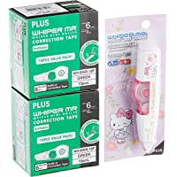 Plus Correction Hello Kitty Tape with 20 Piece MR Refill Set, 6mm