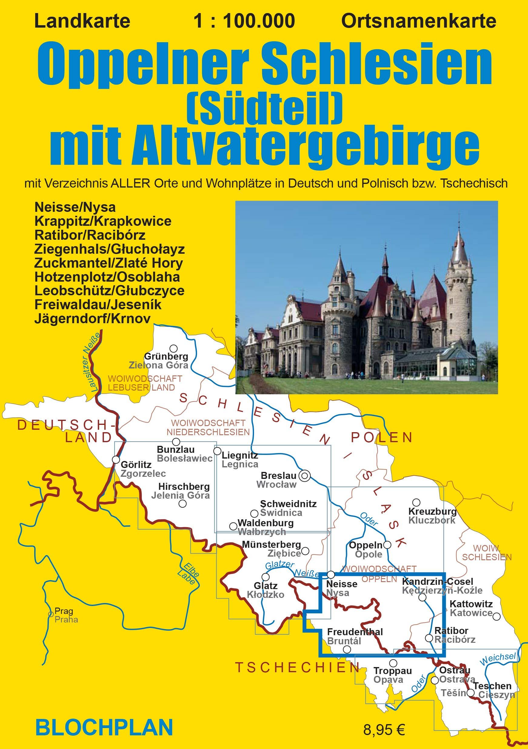 Landkarte Oppelner Schlesien Sudteil Mit Altvatergebirge 1