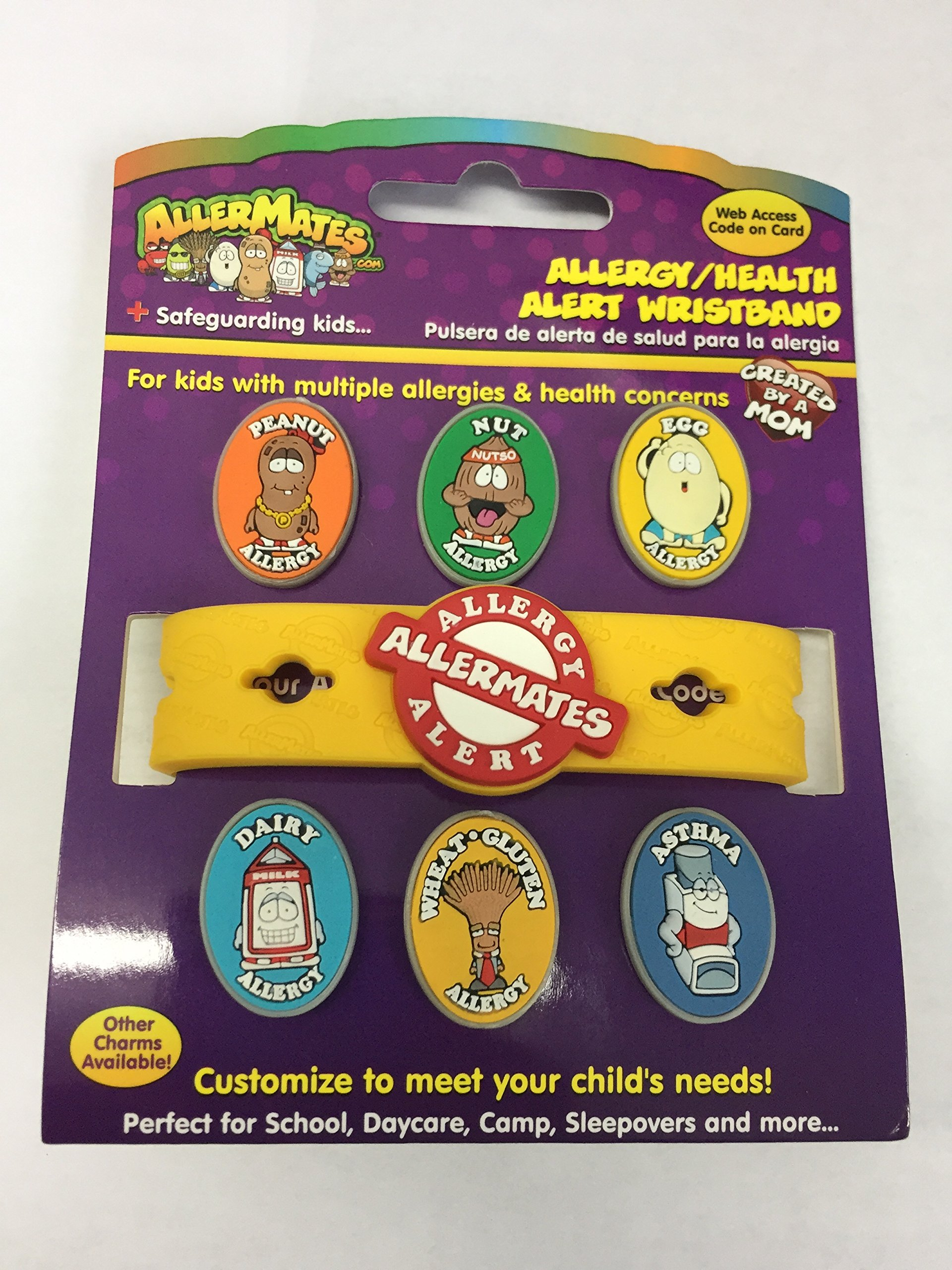 Allergy/Health Alert Wristband Without EpiPen Charm