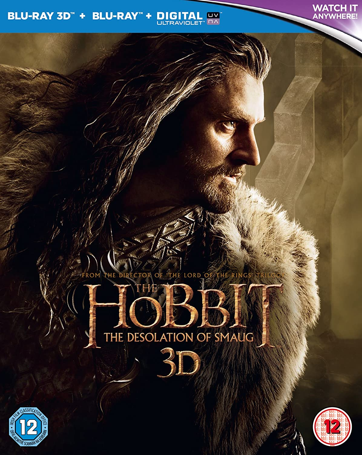 Amazon Com The Hobbit The Desolation Of Smaug Blu Ray 3d Blu Ray Uv Copy 2013 Region Free Martin Freeman Movies Tv