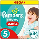 Pampers - Baby Dry Pants - Couches-culottes Taille 5 (11-18 kg) - Mega+ Pack (x84 culottes)