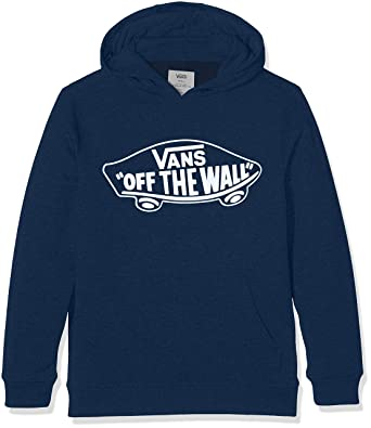 90b50c477508 Vans Boy s OTW Pullover Fleece Hoodie (Dress Blues-White Outline Pok)