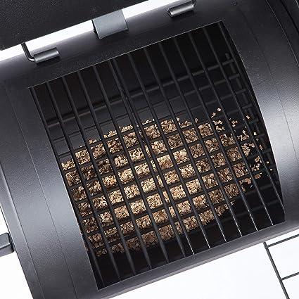 Ultranatura Barbacoa y Ahumador de Carbón Denver, Barbacoa de Carbón con 2 Cámaras de Combustión, Ahumador de Carbón a Ruedas Aprox. 119 x 66 x 135 cm: Amazon.es: Jardín