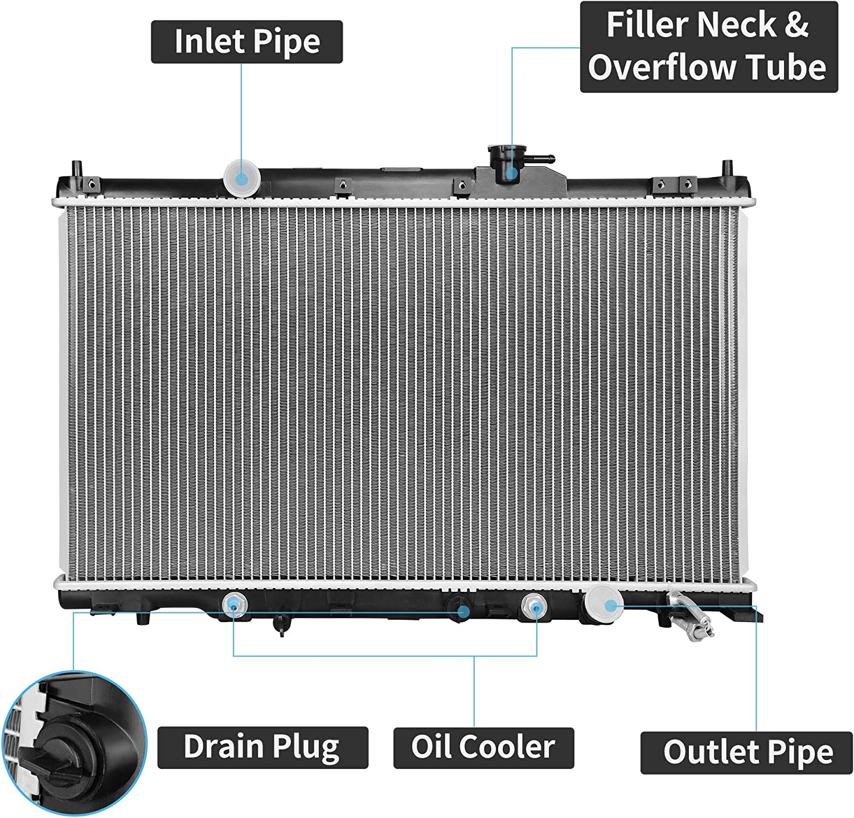 Radiator For 02-06 Honda Element CRV EX LX SE FP47B3 Plastic Tank First Time Fit