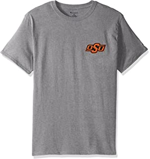 290ed6257 Champion NCAA Mens NCAA Team Tagless Cotton Short Sleeve Front/Back Graphic  Tee