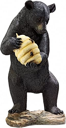 Design Toscano Beehive Black Bear Spitter Piped Statue,full color