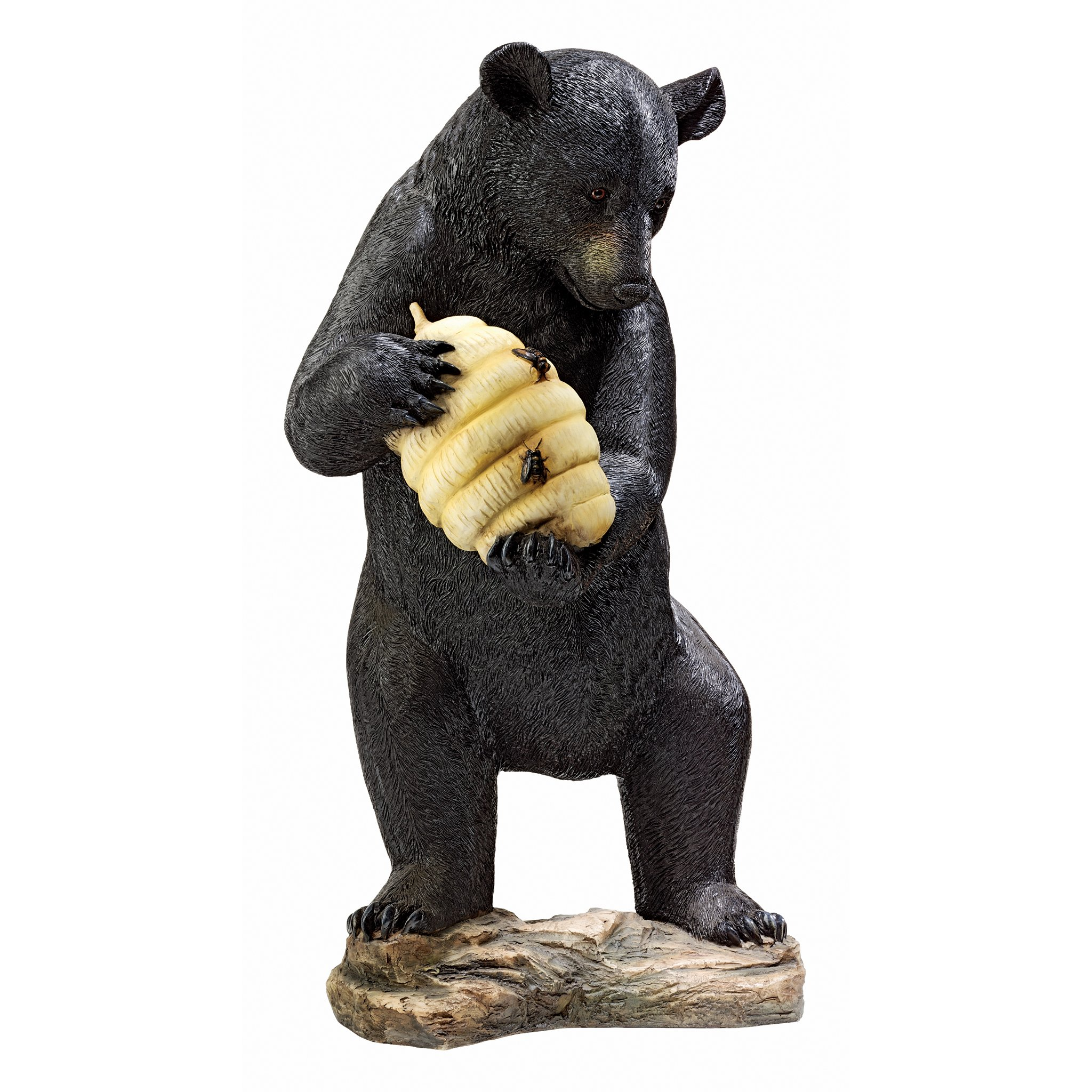Design Toscano Beehive Black Bear Spitter Piped Statue