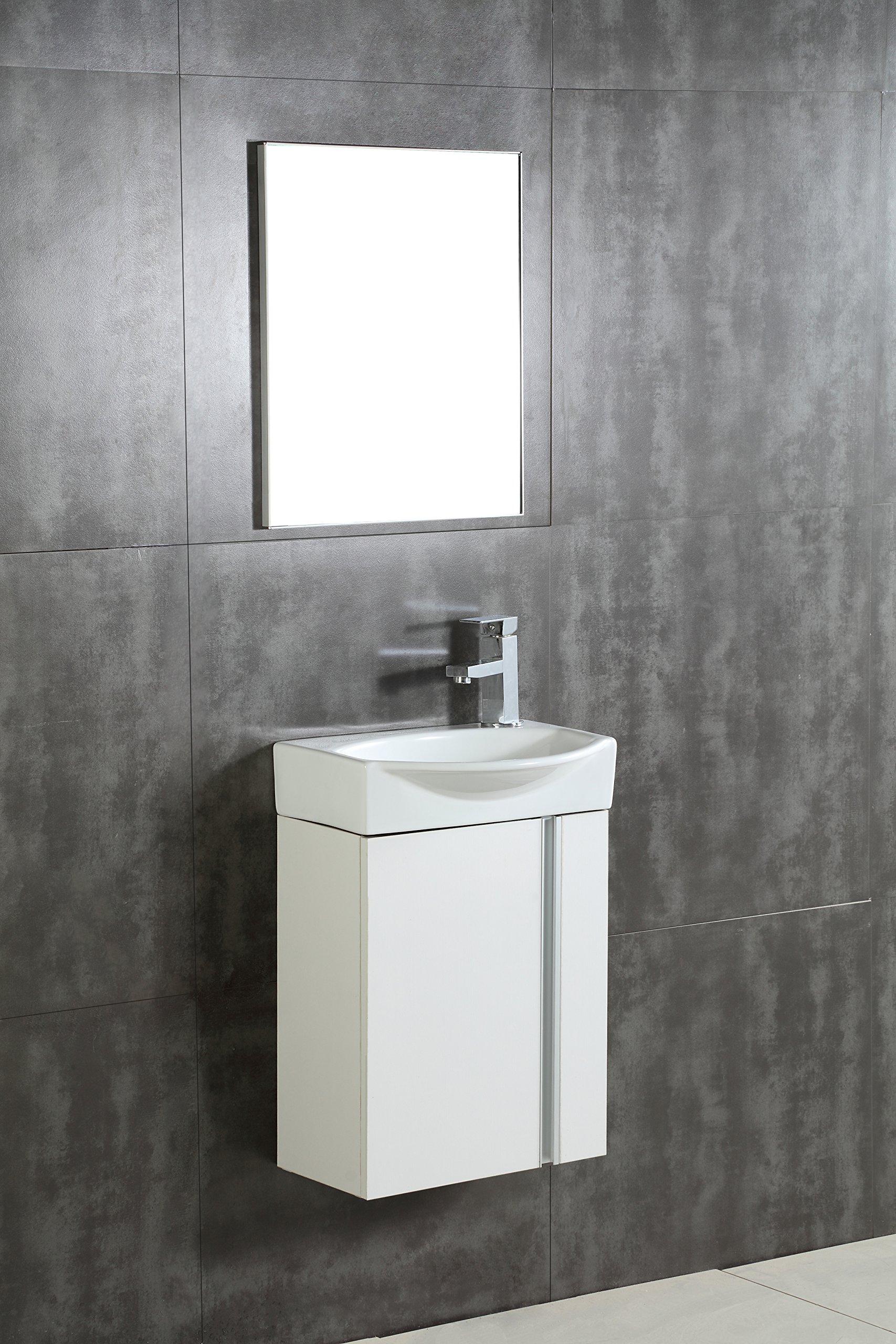 Fine Fixtures Compacto Small Bathroom Vanity Set With Sink