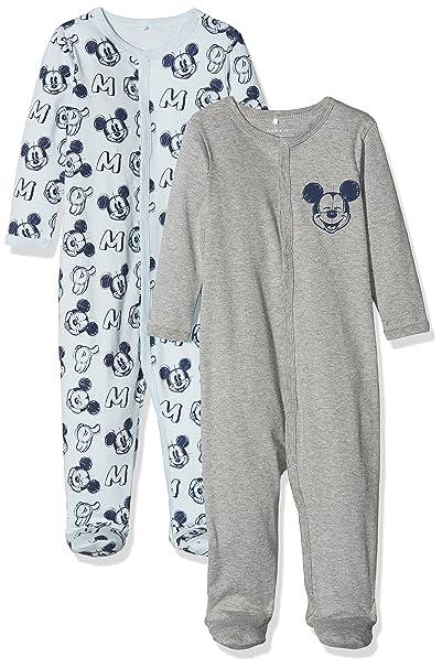 NAME IT Nbmmickey Bert Nightsuit WF Wdi Noos, Pijama para Bebés, Multicolor (Baby