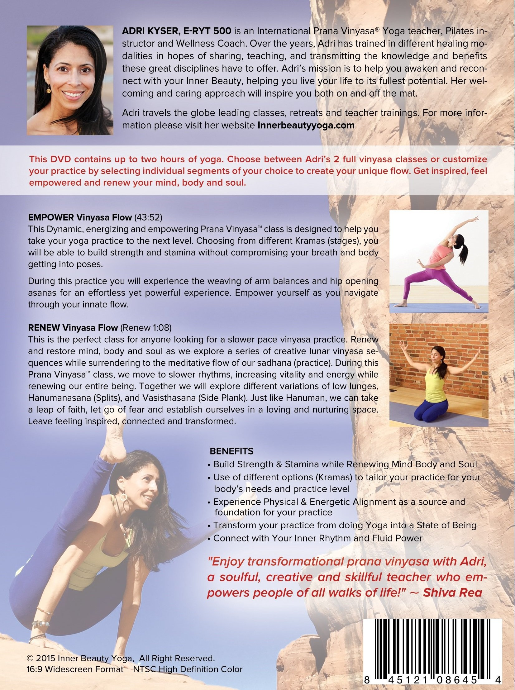 Empower & Renew Vinyasa Flow DVD by Adri Kyser (Image #2)