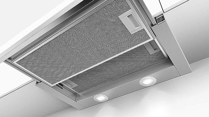 Bosch DFM064W50 Encastrada Acero inoxidable 400m³/h C - Campana (400 m³/h, Canalizado/Recirculación, C, E, B, 54 dB): Amazon.es: Grandes electrodomésticos