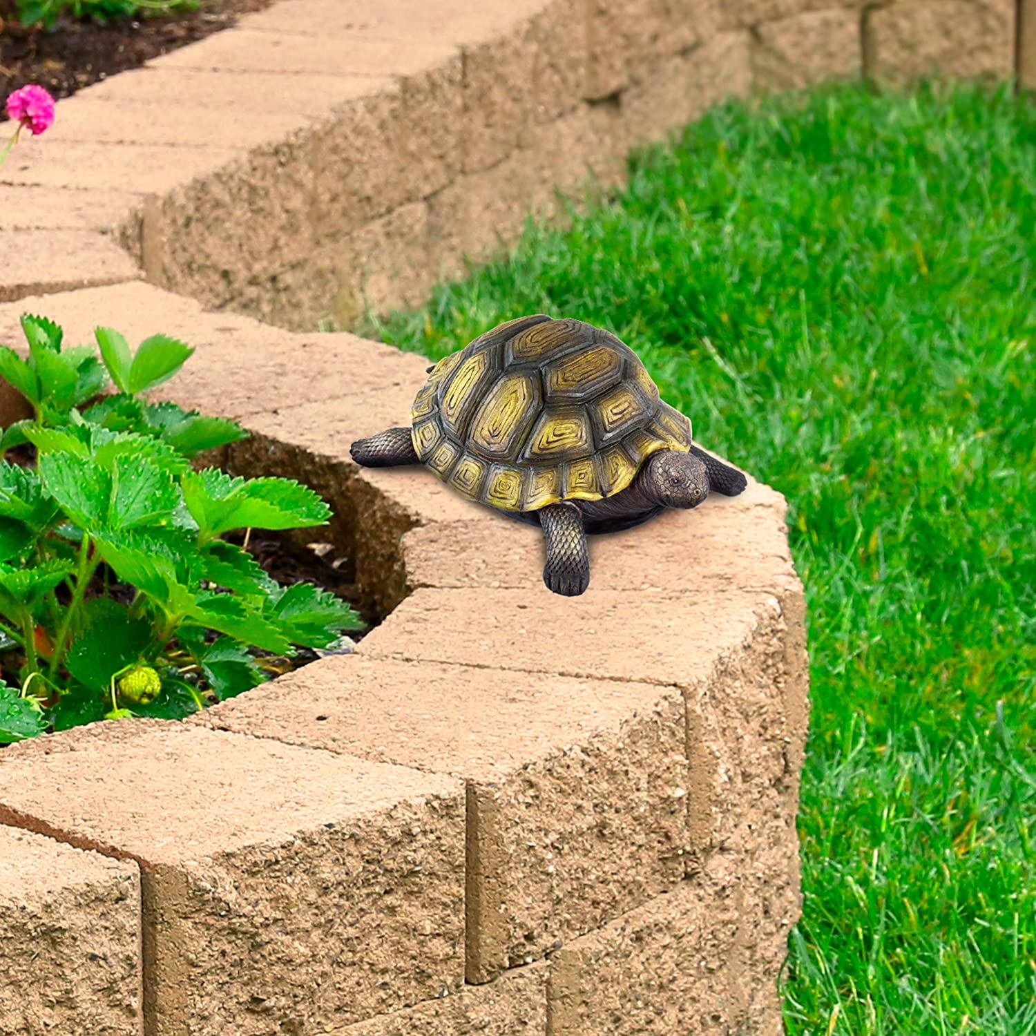 Pure Garden 50-LG1095 Turtle Statue-Resin Zen Animal Figurine for Outdoor Lawn Decor-for Flower Beds Fairy Gardens, Backyards and More