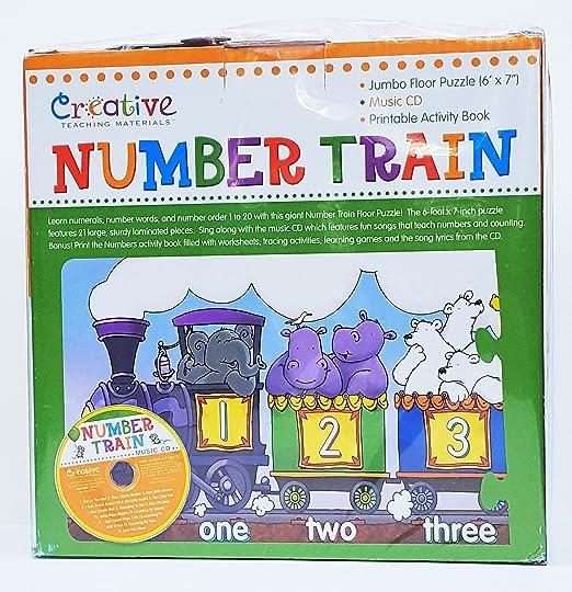 Amazon.com: Creative Number Train Jumbo Floor Puzzle: Toys & Games