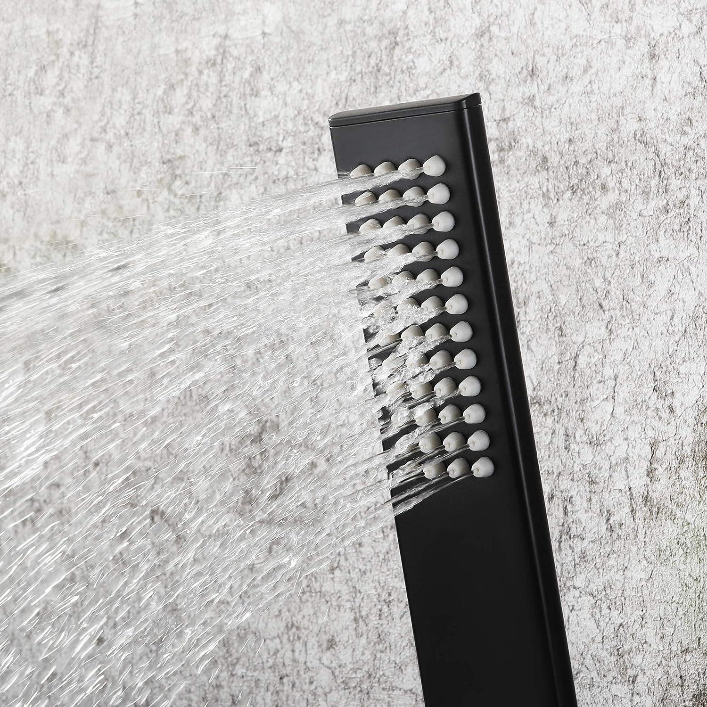 Pinchu cabezal de ducha de mano con acabado cromado pulido ahorro de agua negro Alcachofa de ducha de alta presi/ón repuesto universal para tu cuarto de ba/ño