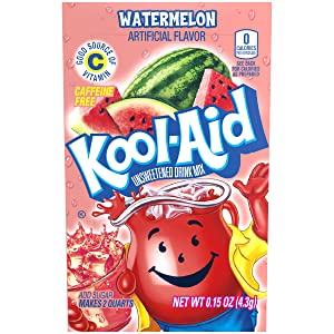Kool-Aid Watermelon Flavored Unsweetened Caffeine Free Powdered Drink Mix (48 Packets)
