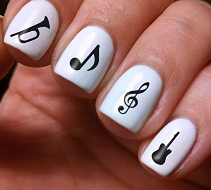 Nail Art Full Decals Set 3d Diy Music Notes Original Beauty