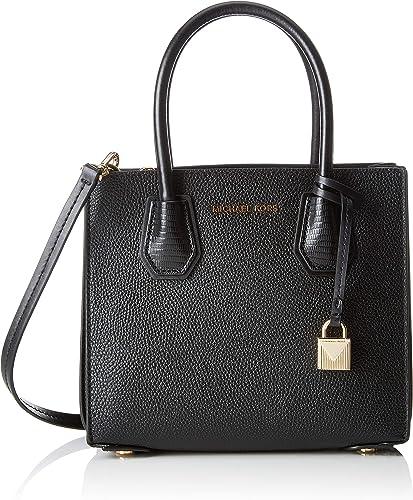 Michael Kors Mercer Medium Messenger, Women's Cross-Body Bag, Black,  11x19x22 centimeters (B x H x T)