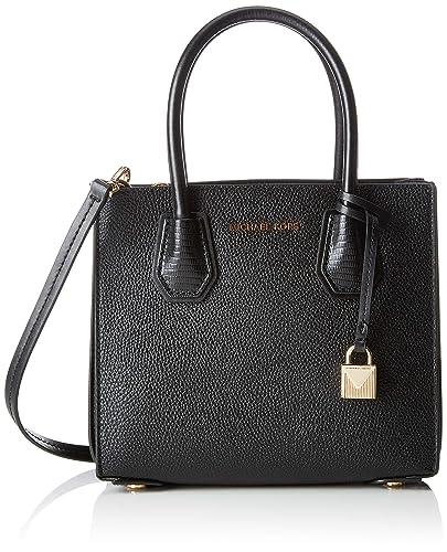 Michael Kors Womens Mercer Shoulder Bag Black (Black