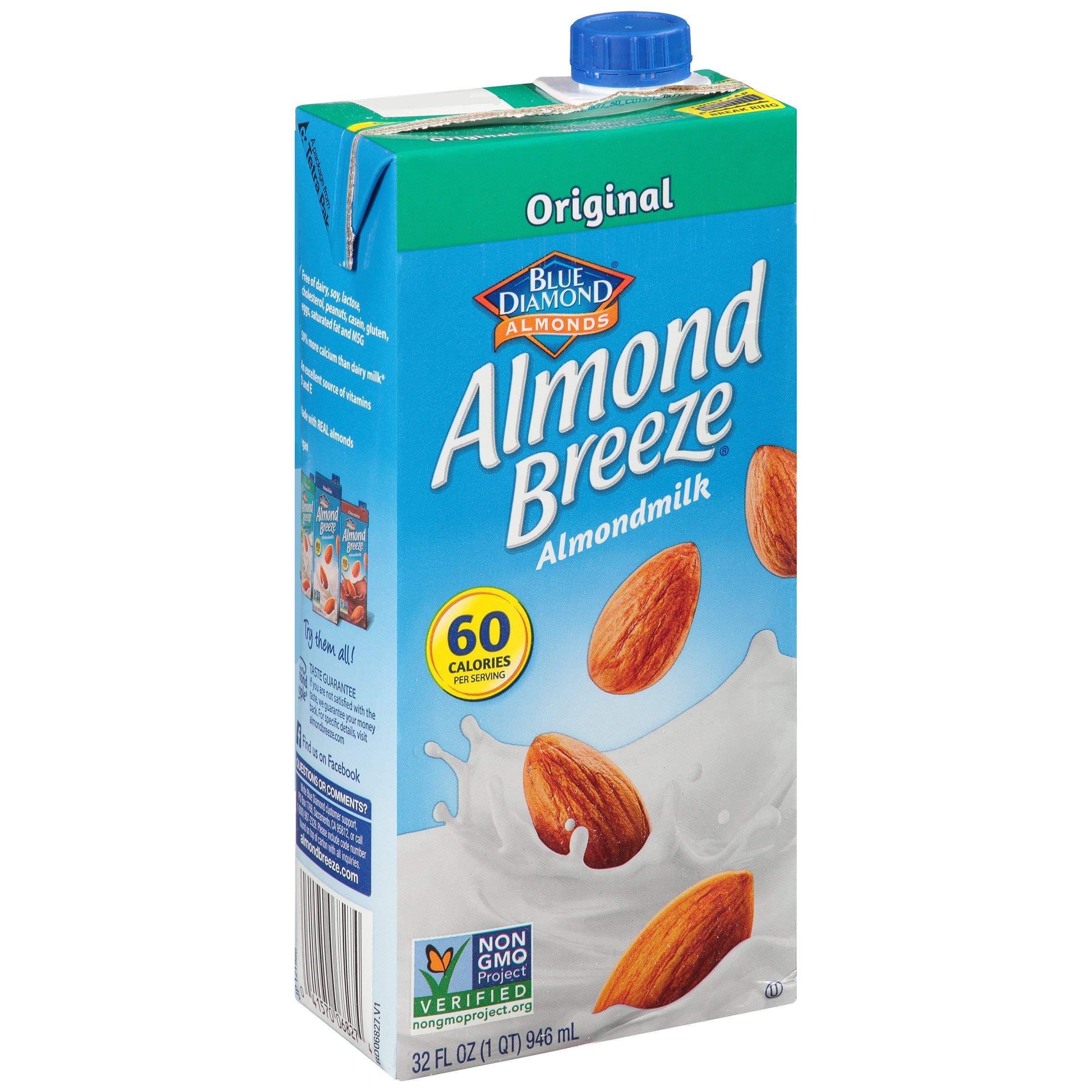Almond Breeze Original Beverage 32 oz-Pack of 12