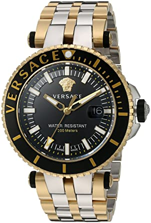 Versace Montre Swiss-Quartz analogique pour Homme avec Bracelet en Acier  Inoxydable Vak040016 0872de73766