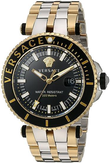 Versace VAK040016 - Reloj analógico de Cuarzo con Correa de Acero Inoxidable para Hombre: Amazon.es: Relojes